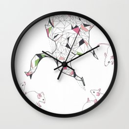 At Night the Lab Mice Bend Space and Time Wall Clock