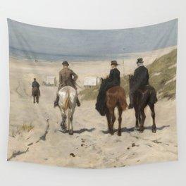 Anton Mauve - Morning Ride along the Beach(Scheveningen) (1876) Wall Tapestry