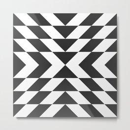 Dark Arrow Pattern Metal Print