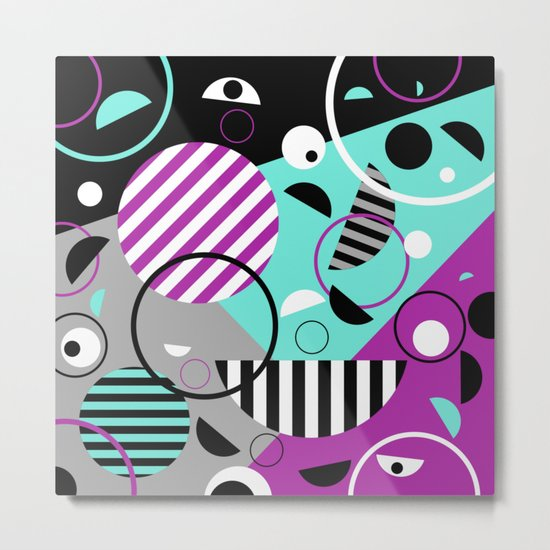 Bits And Bobs - Abstract, geometric design Metal Print