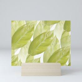 Green leaves #decor #society6 Mini Art Print
