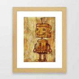 Optimistic Robot Framed Art Print