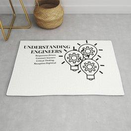 Understanding Engineers Funny design Rug
