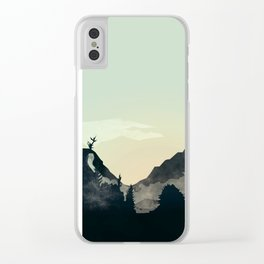 Misty Mountain Clear iPhone Case