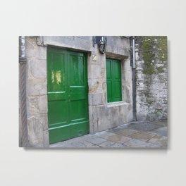 Green Door Metal Print