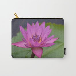 Bright Pink Water Lily Carry-All Pouch