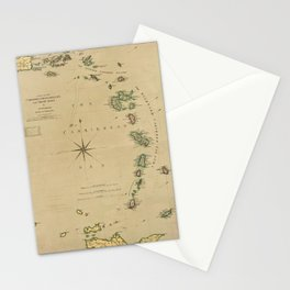 Map of the Caribbee, Granadilles & Virgin Isles (1789) Stationery Cards