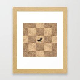 Patchwork Crow Framed Art Print