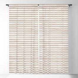 Skinny Stroke Horizontal Nude on Off White Blackout Curtain