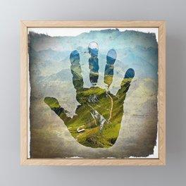 Hand Print Framed Mini Art Print