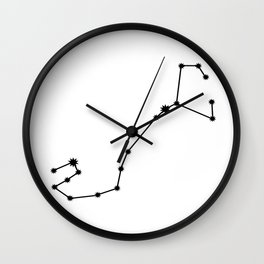 Scorpio Astrology Star Sign Minimal Wall Clock