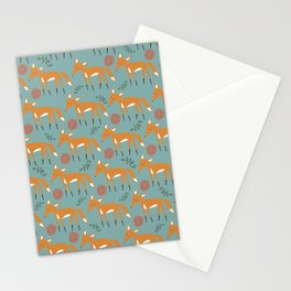 Foxy Pattern Stationery Cards