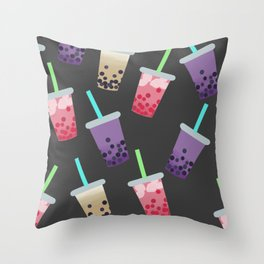 Bubble Tea Party Throw Pillow