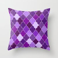 morocco Throw Pillows featuring Morocco Orchid by Jacqueline Maldonado
