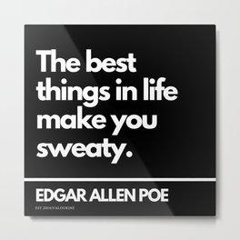 14  Edgar Allen Poe Quotes   201012  Existentialism Nihilism Existentialist Philosophy Writer Raven Metal Print