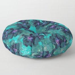 Hibiscus Blue Floor Pillow
