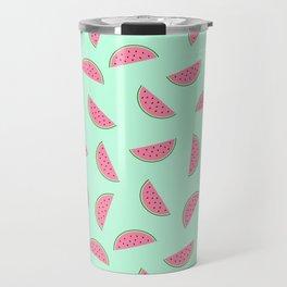 Seamless Watermelon Pattern Travel Mug
