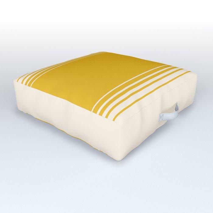 Marigold & Crème Vertical Gradient Outdoor Floor Cushion