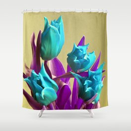 MAGIC PINK TULIPS Shower Curtain