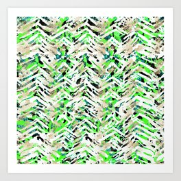 chalky skin light with green Art Print