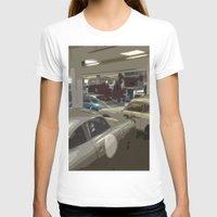 porsche T-shirts featuring Porsche Garage by Premium