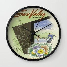 Vintage poster - Sun Valley, Idaho Wall Clock