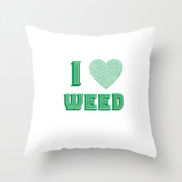 Weed Lover pot stoner Cannabis gift Throw Pillow