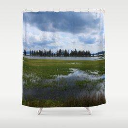 Yellowstone Lake At Pelican Creek Shower Curtain