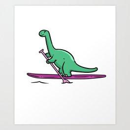 Stand up paddle gift paddling water sports lake Art Print