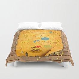 Treasure Map Duvet Cover
