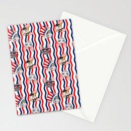 patriotic sphynx rick rack Stationery Cards