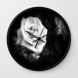Pink Roses in Anzures 1 Dark Wall Clock