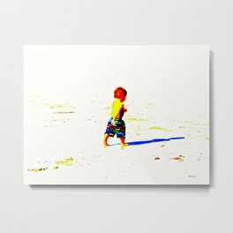 Straight Ahead to a Wonderful World! Metal Print