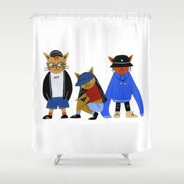Streetwear Cats Shower Curtain