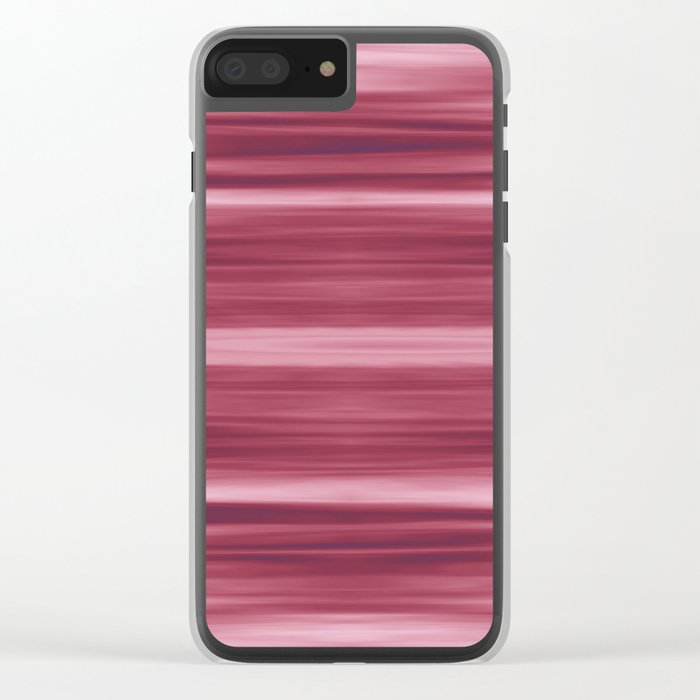 Abstraction Serenity in Rose Clear iPhone Case