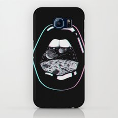 Space Lips Black Slim Case Galaxy S7