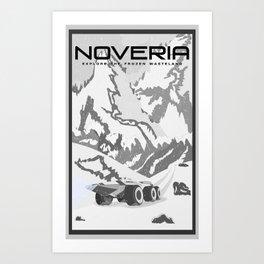 Mass Effect Noveria Travel Poster Art Print