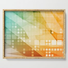 Digital Marketing Technology Abstract Background Art Concept Serving Tray