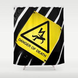 Danger of Death #2 | New Slant, Old Message Shower Curtain