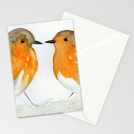 Robins in Love Stationery Cards