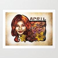 Brenda of April Art Print