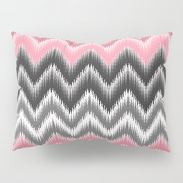 Modern blush pink black geometrical ikat chevron Pillow Sham