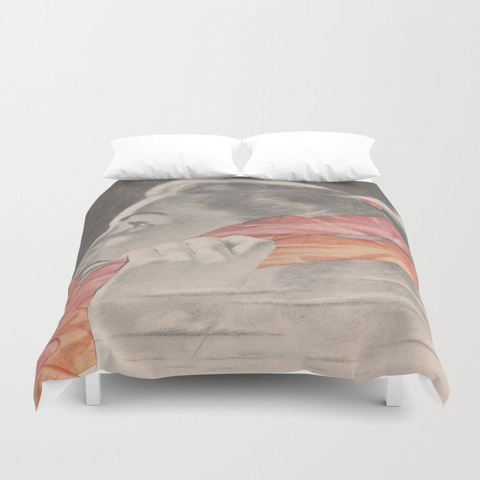 Can You Hear Me Now Duvet Cover