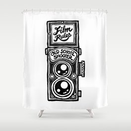 Analog Film Camera Medium Format Photography Shooter Shower Curtain