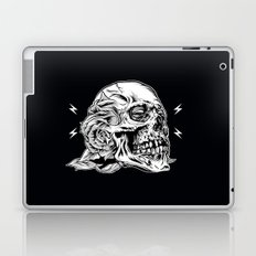 Skull Flower Art Print Laptop & iPad Skin