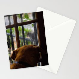 Her nemesis the squirrel tease Stationery Cards
