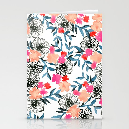 Tiny Floral Stationery Cards