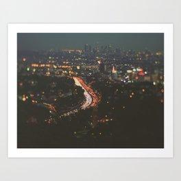 L.A. Skyline Photograph. Stardust Art Print