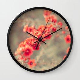 Tea Blossoms Wall Clock