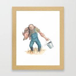 Pig Farmer Framed Art Print